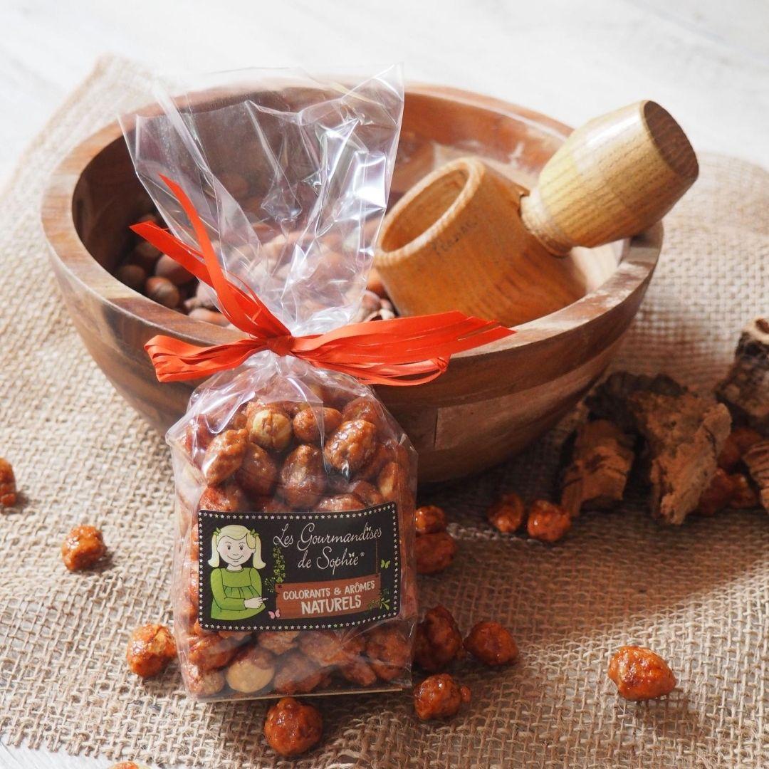 Cacahuètes grillées sucrées