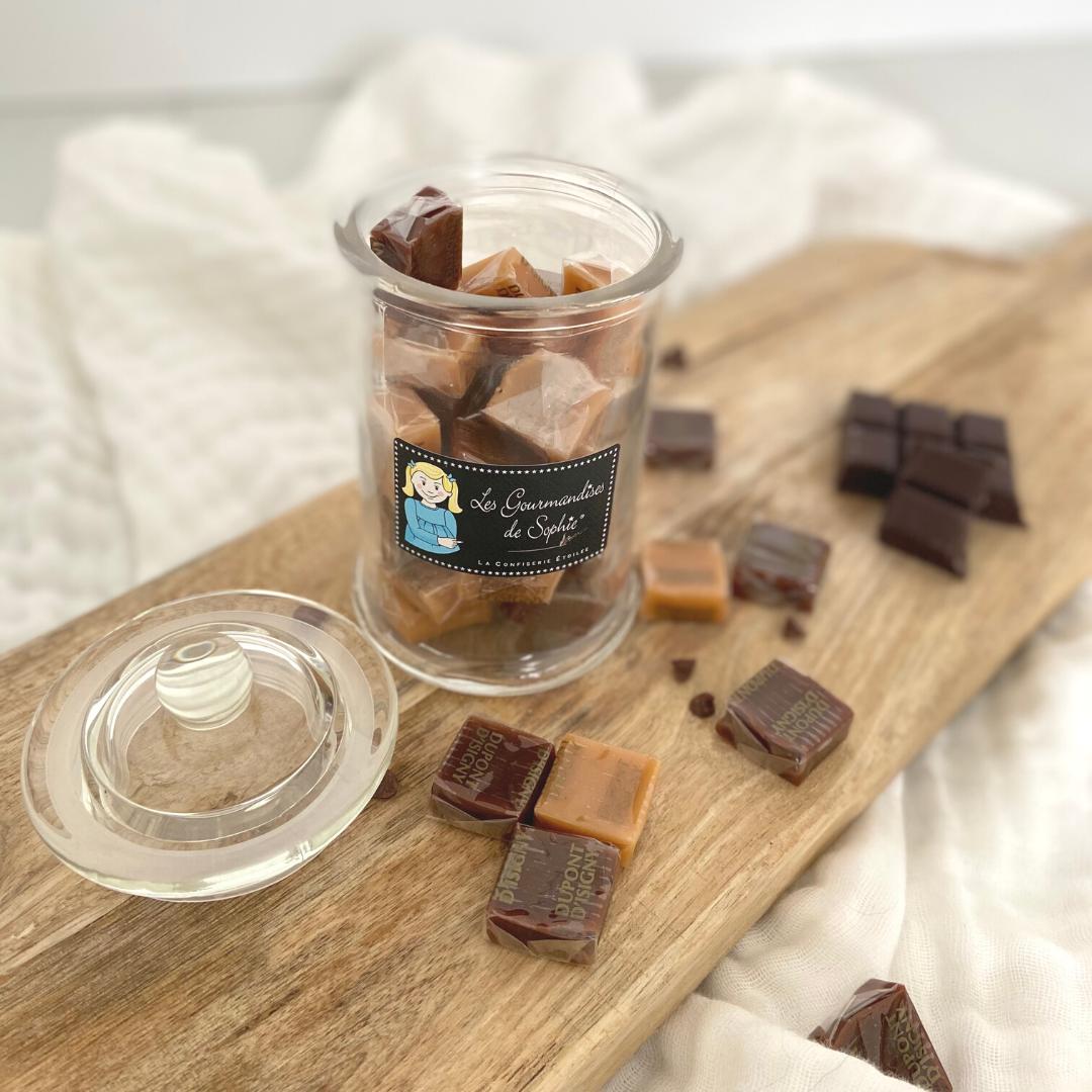 Caramels chocolat/vanille