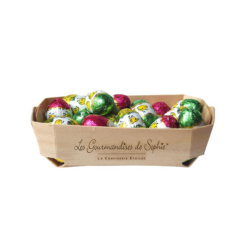 œufs chocolat céréales et pralinés